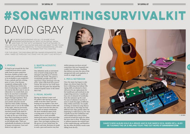 David Gray's Songwriting Survival Kit