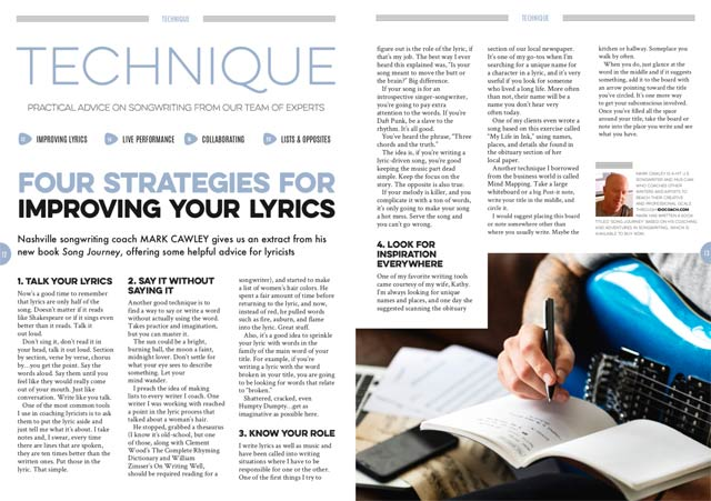 Four strategies for improving your lyrics