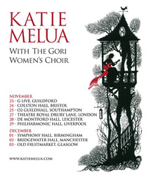 Katie Melua winter tour poster