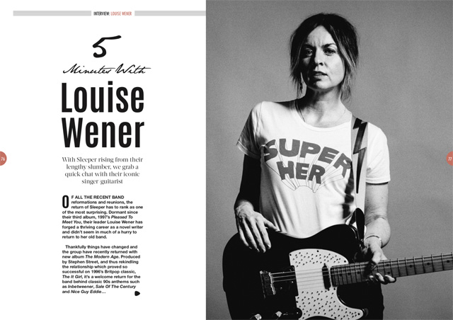 Sleeper's Louise Wener in Songwriting Magazine