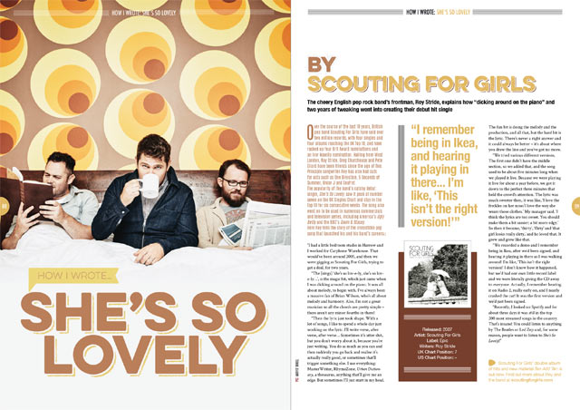 Scouting For Girls in Songwriting Magazine
