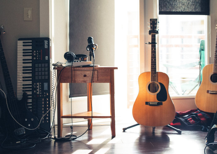 Home recording acoustic guitar