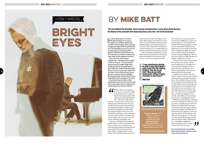How I wrote 'Bright Eyes' in Songwriting Magazine
