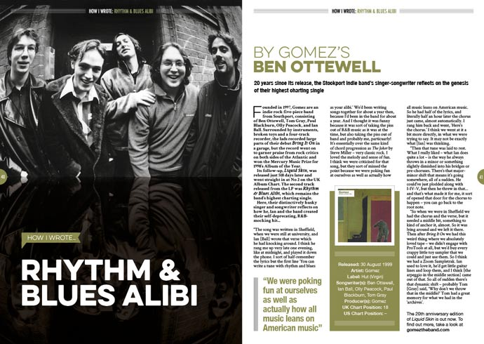 How I wrote 'Rhythm & Blues Alibi' by Gomez's Ben Ottewell
