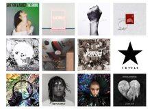Mercury Prize 2016 albums artwork