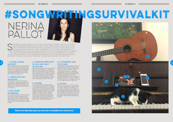 Nerina Pallot's Survival Kit in Songwriting Magazine Autumn 2017