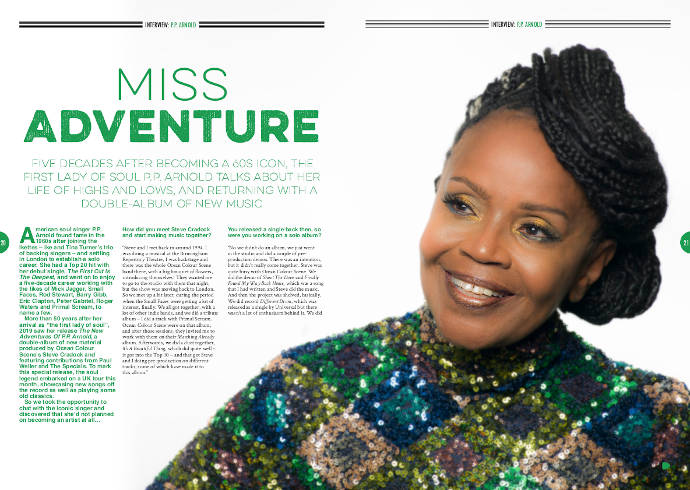 PP Arnold in Songwriting Magazine Autumn 2019