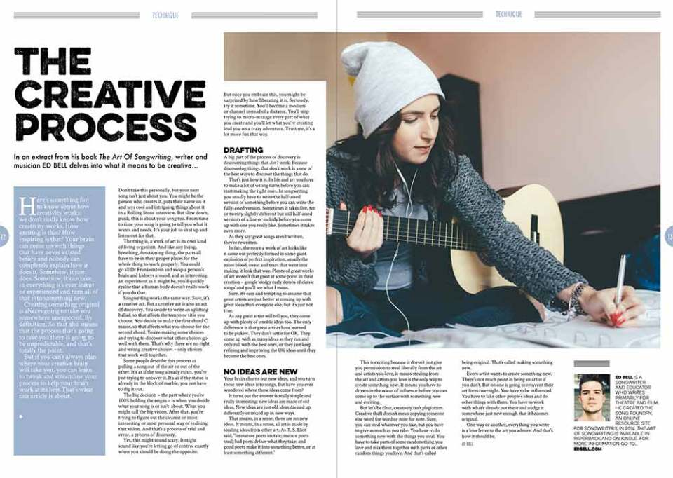 The creative process in Songwriting Autumn 2017