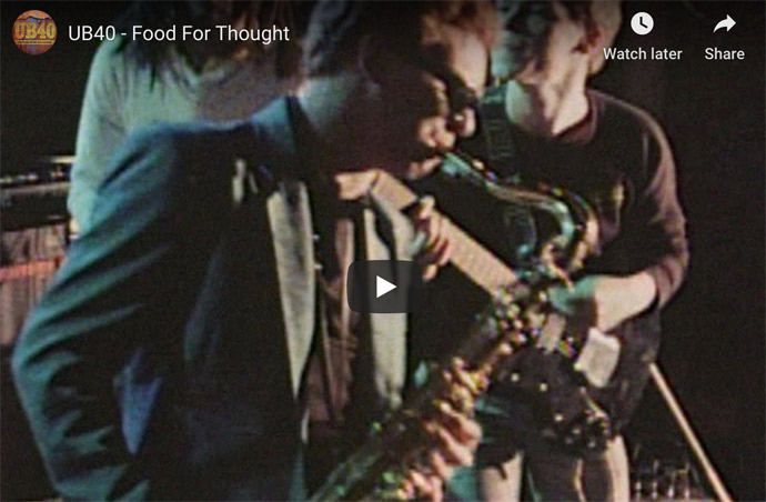 UB40 Food For Thought video