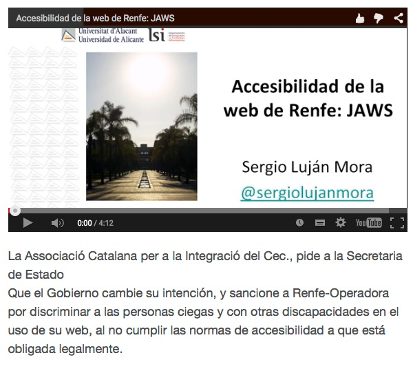 Web noi accesible en Renfe