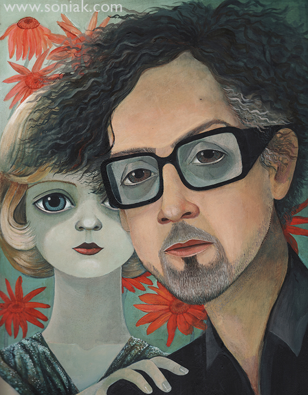 Tim Burton Big Eyes cover for Saturday Age Spectrum