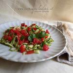 Fettucce di Zucchine novelle e Pomodori al profumo di Basilico