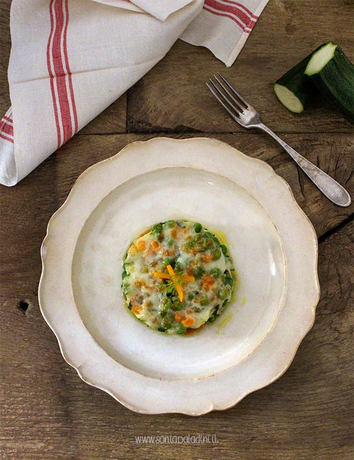 Lasagne con verdura e formaggio