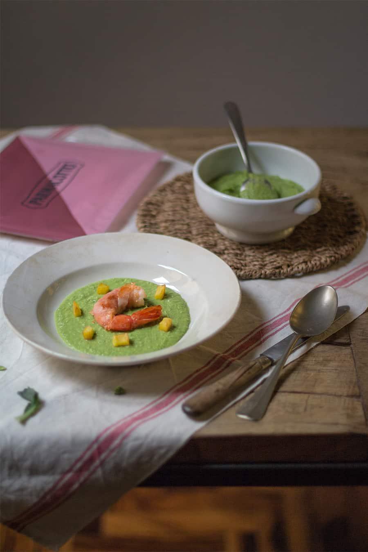 crema di broccoli con prosciutto