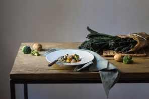 Calamari scottati con verdure di stagione
