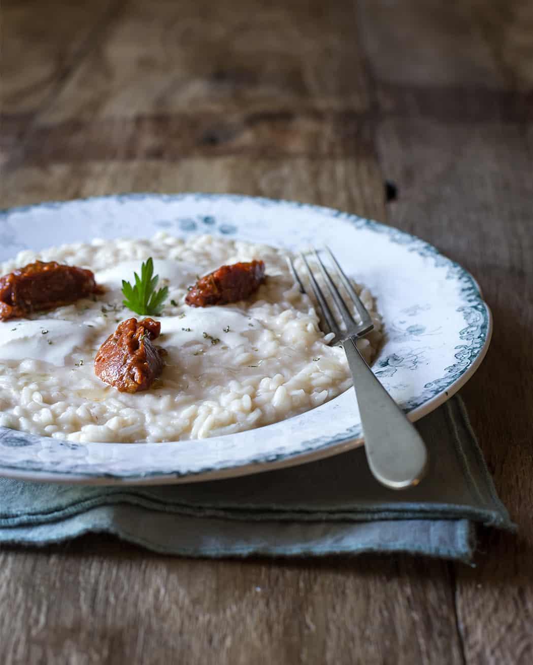 risotto con funghi porcini e formaggio