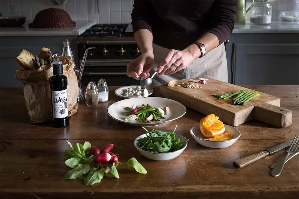 ricetta insalata con glassa all'aceto balsamico