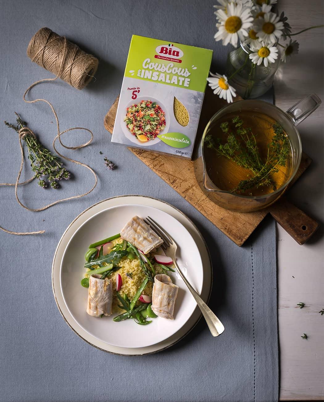 ricette Bia cous cous per insalate con verdure di stagione