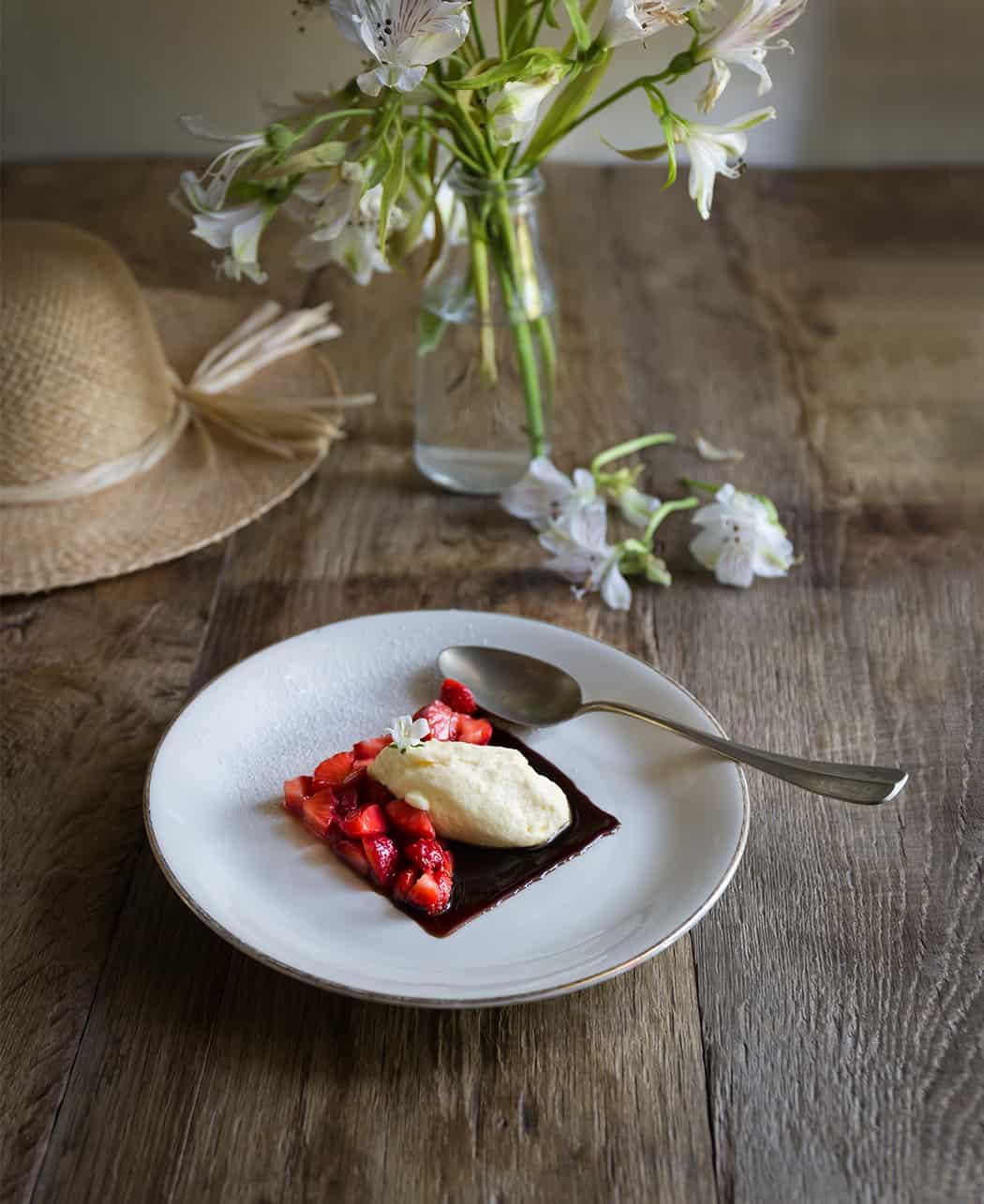 ricetta mascarpone alle fragole e balsamico