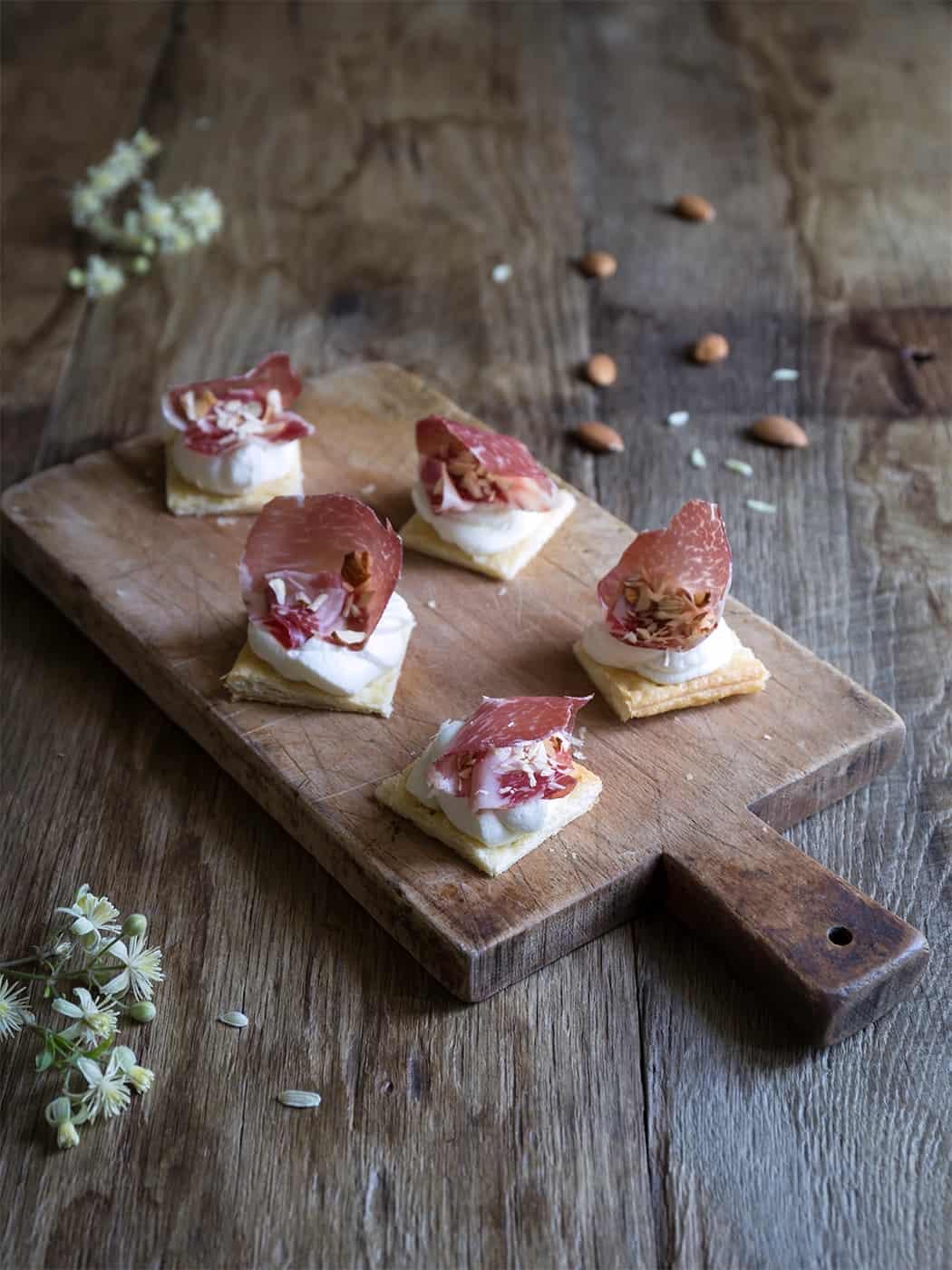ricetta millefoglie con coppa di Parma