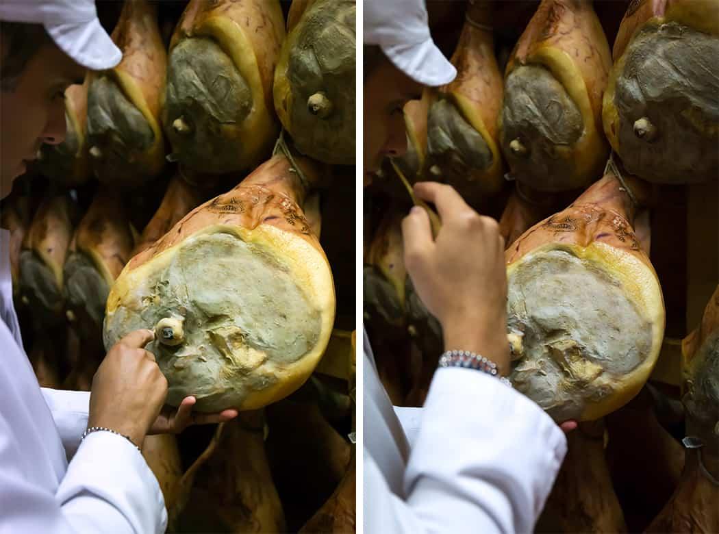 prosciutto di Parma controllo ago di osso