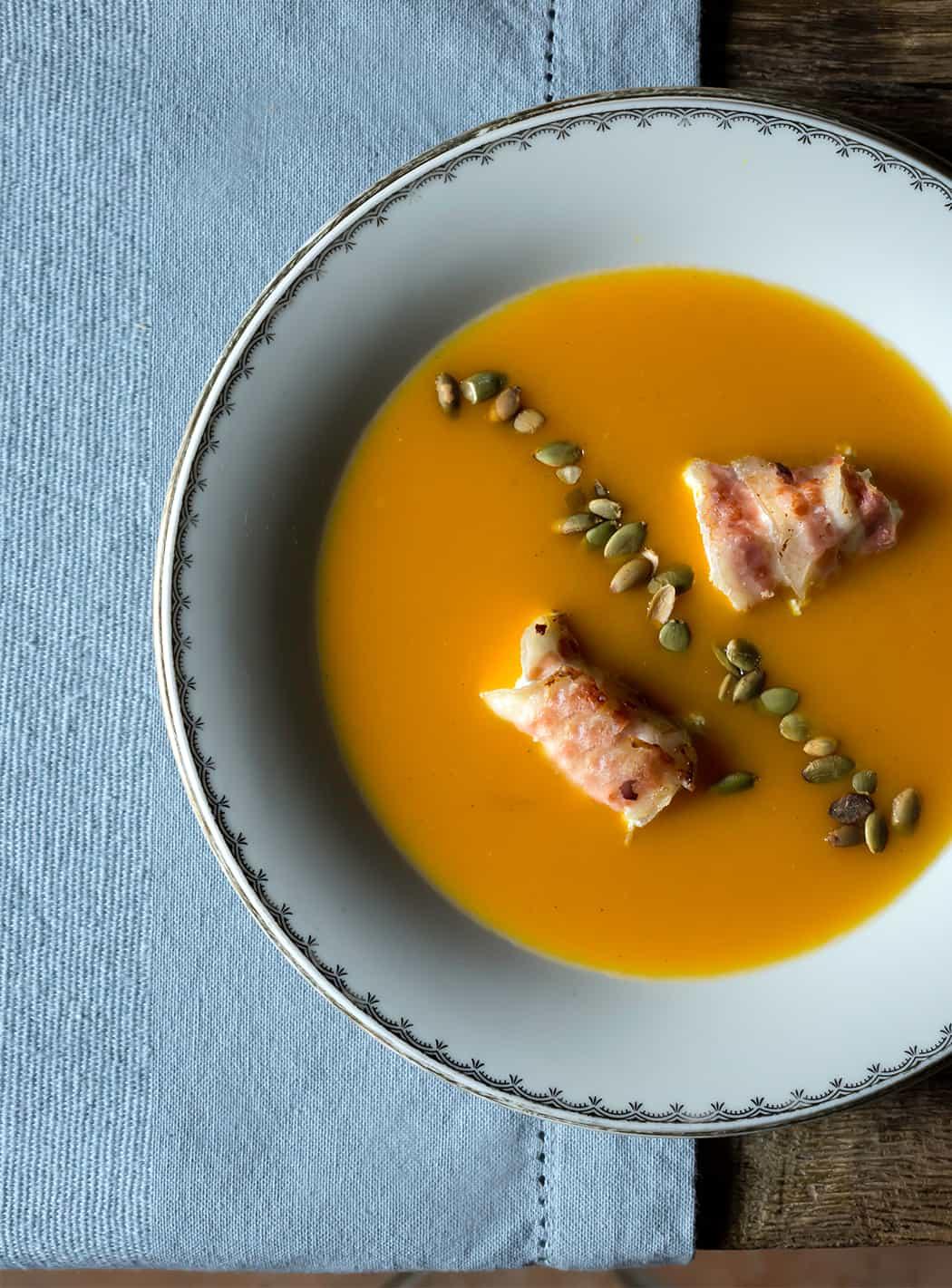 ricette crema di zucca carote e curcuma
