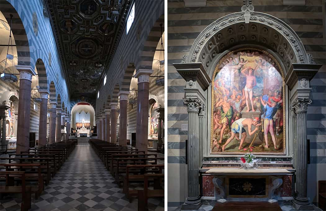 l'interno del Duomo di Volterra