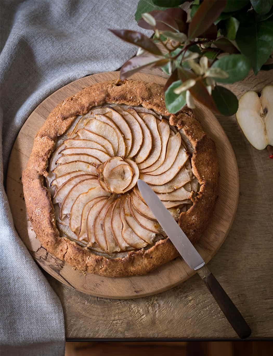 ricetta torta rustica integrale con pere