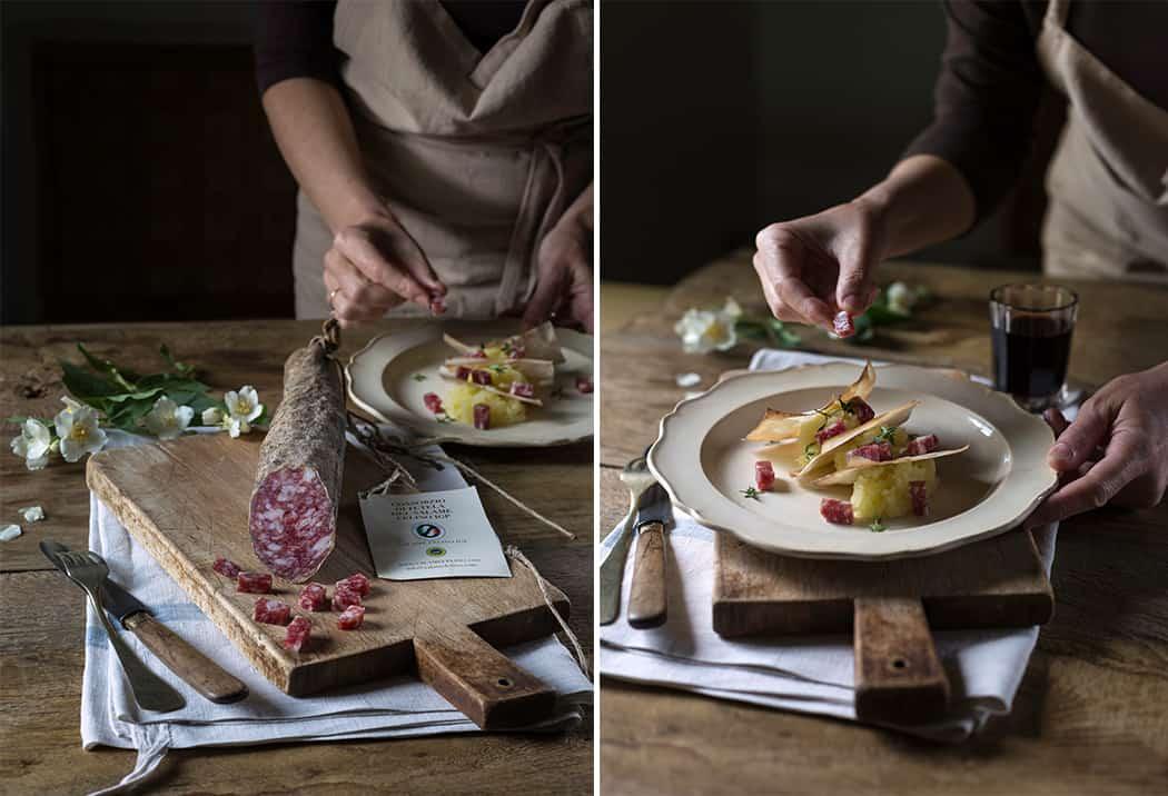 ricette con salame e patate