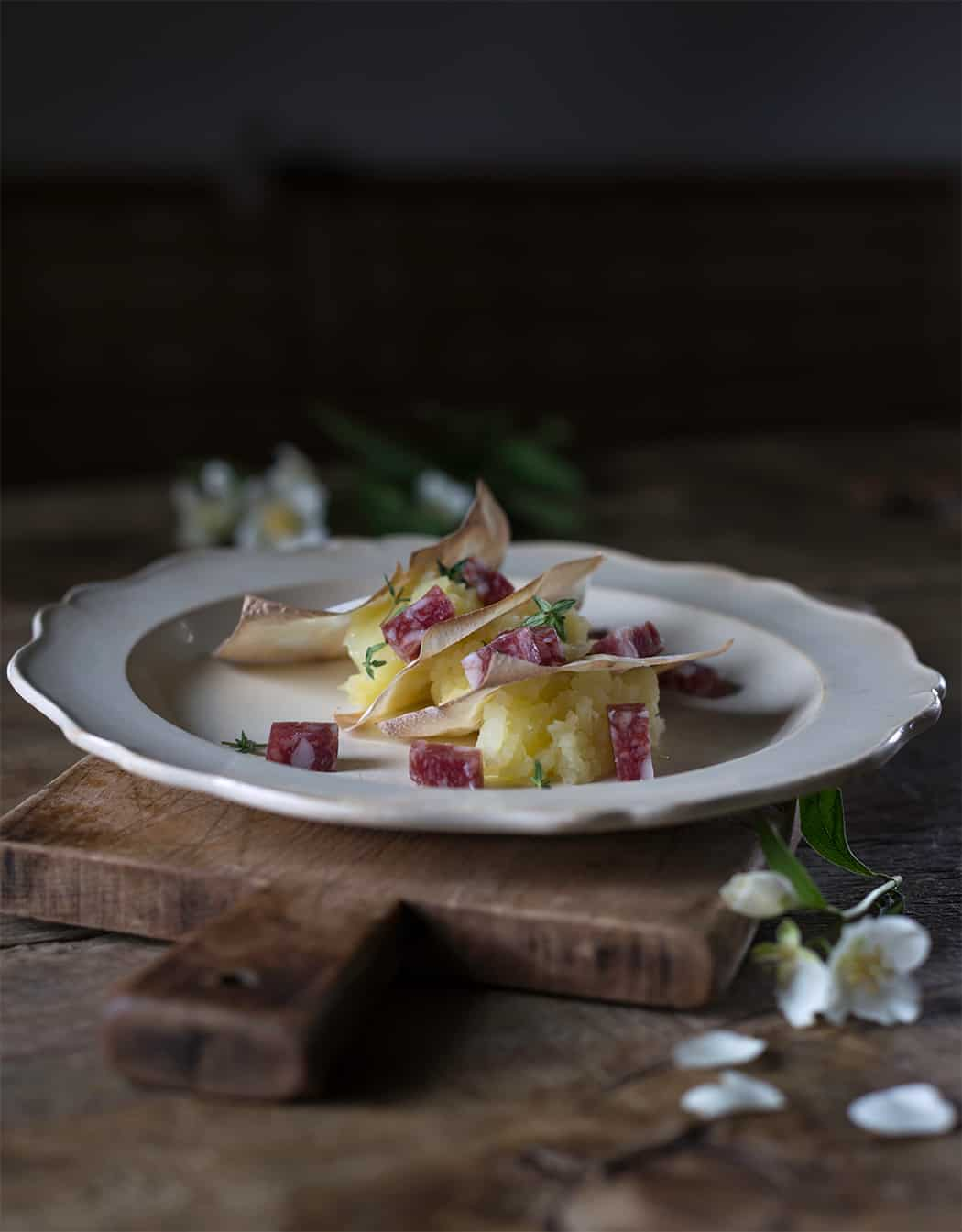 ricetta torta di patate con salame