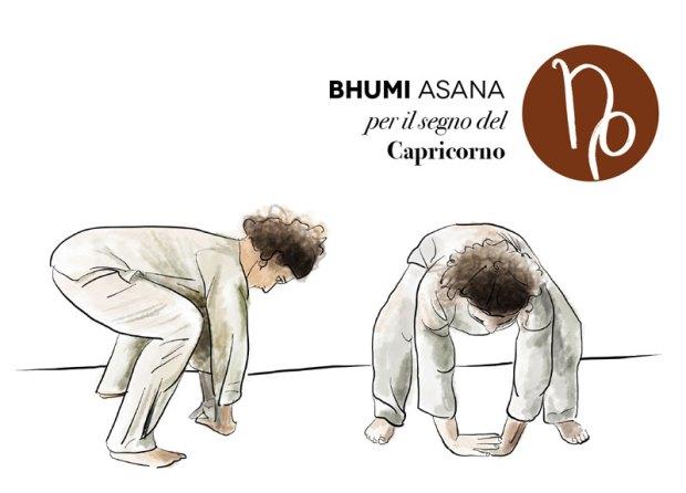 capricorno e bhumi asana