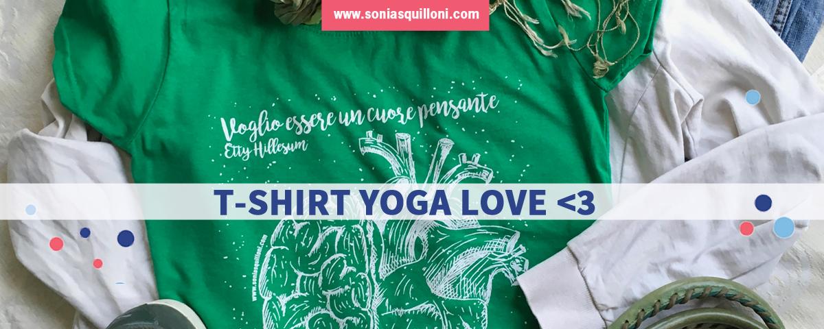 T-shirt yoga sul cuore per dire grazie