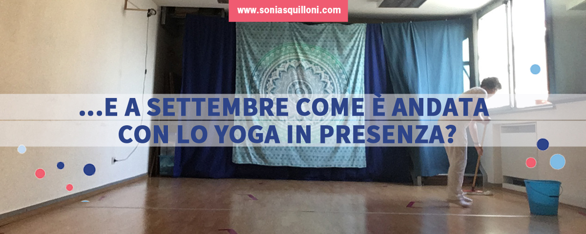 Yoga in presenza post-covid, settembre 2020
