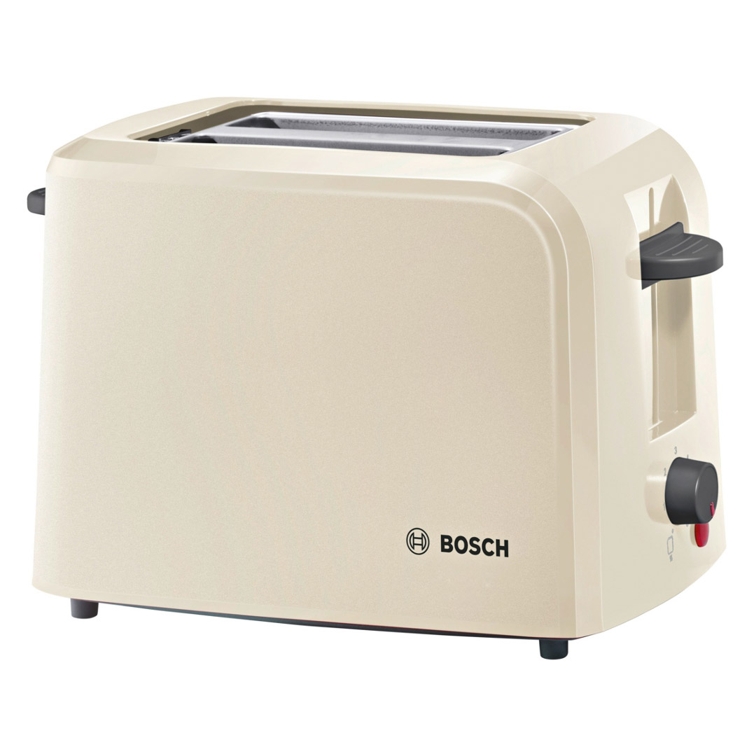 bosch tat3a0175g 2 slice toaster in cream integrated warming rack