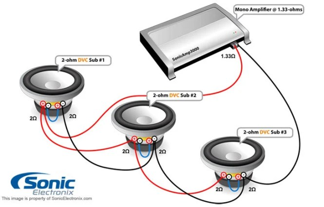 kicker dvc wiring diagram wiring diagram subwoofer wiring diagrams three 4 ohm dual voice coil dvc speakers