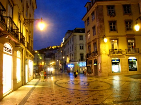 Night in the Baixa, Lisbon