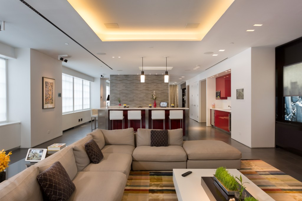 Image of Kitchen Showroom integrated with Crestron Distributed Audio-Video and Lighting Control –Canada, Vancouver & Toronto