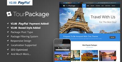Tour Package WordPress Travel Tour Theme