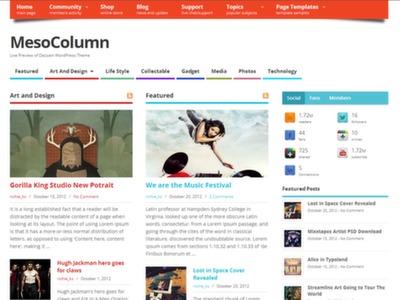 Mesocolumn Free WordPress Template