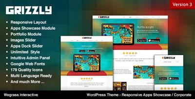 Grizzly - Responsive App WordPress