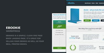 eBookie One Page WordPress Theme with Blog