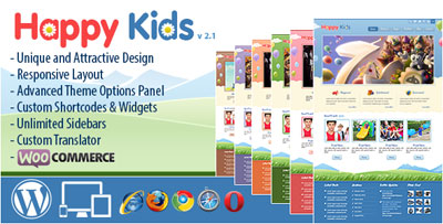 Happy Kids Education WP Template