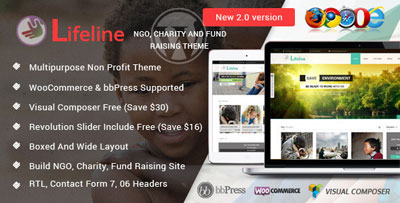 Lifeline Non Profit WordPress Theme