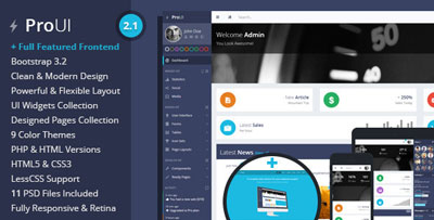 ProUI Awesome Admin HTMl Template