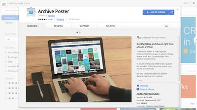 chrome extension archive poster
