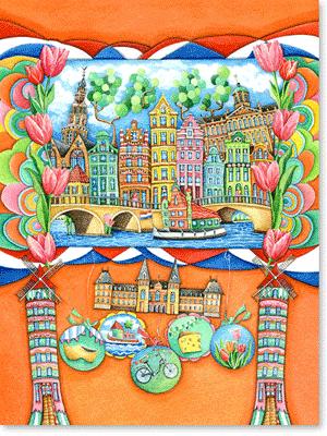 Aquarell - Amsterdam