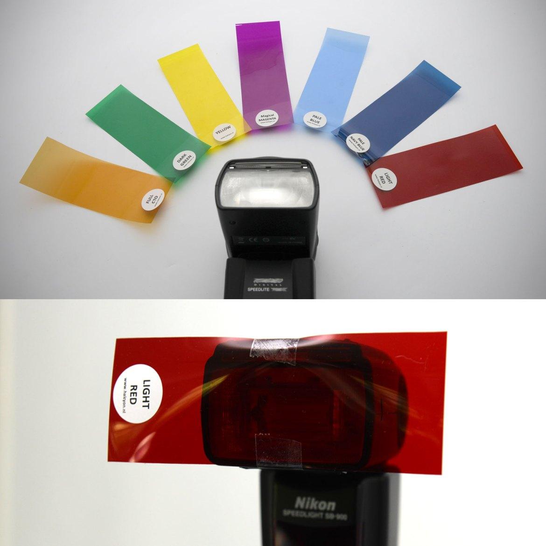 gekleurde gelfilters flitsfotografie