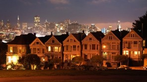 Painted Ladies by night