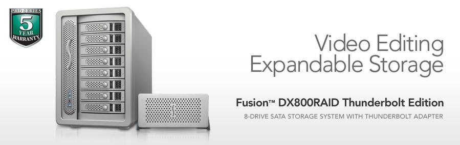 Fusion DX800RAID Thunderbolt Edition