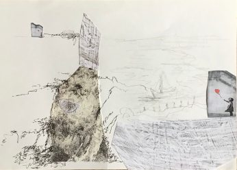 Dieses Kunstwerk wurde gestaltet von 1. Dagmar Witt, 2. Gisela Kemper, 3. Mechthild Hoppe, 4. Heike Minnerop